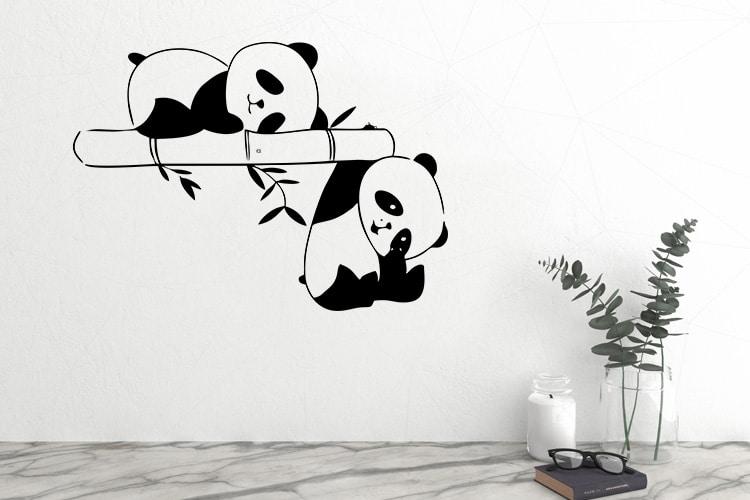 Sleeping Panda Wall Decal
