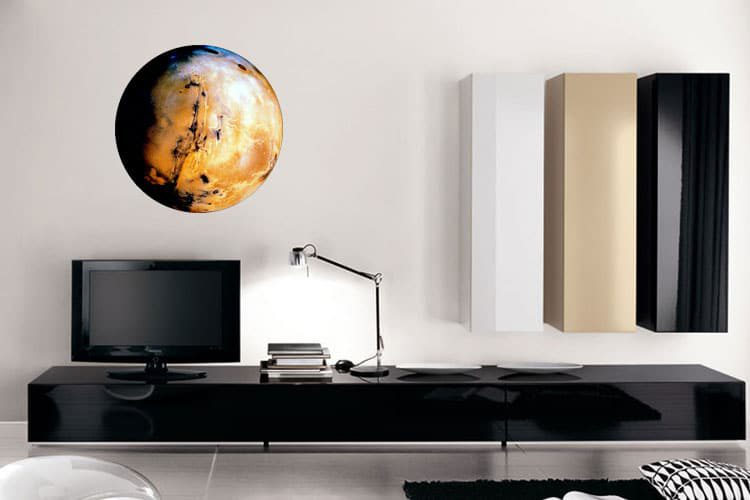 Planet Mars Wall Dot