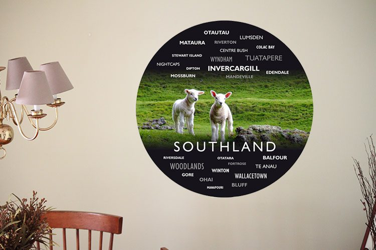 Lambs WordArt Wall Dots