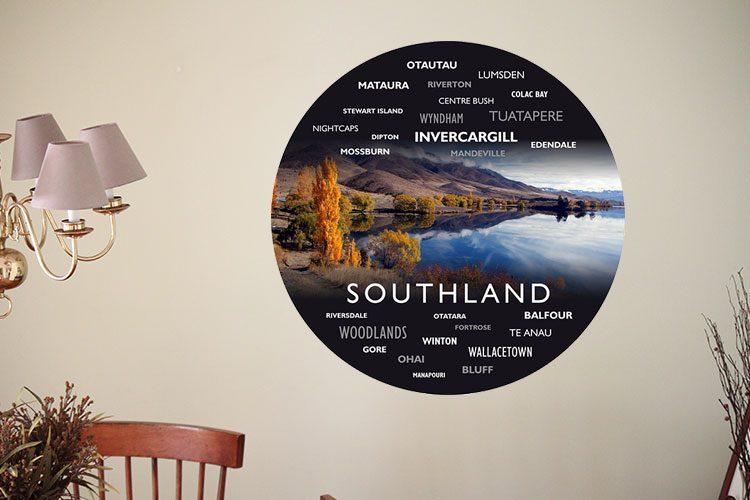 Scenery WordArt Wall Dots