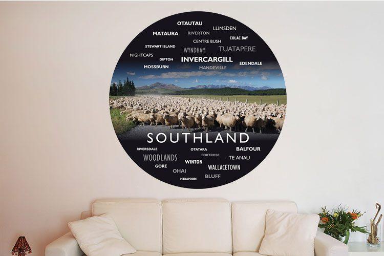 Sheep Farm WordArt Wall Dots