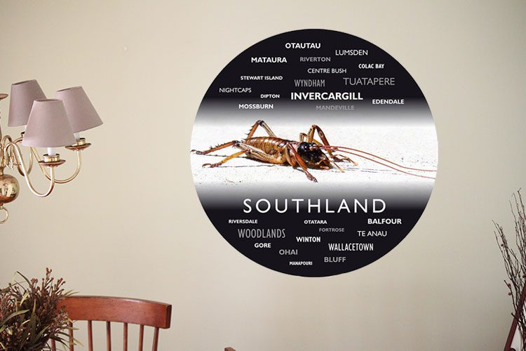 Ants Of New Zealand WordArt Wall Dots