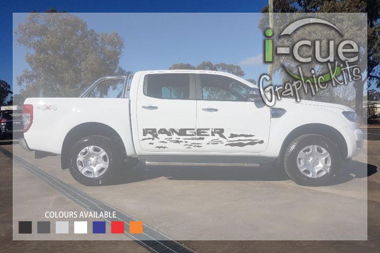 Ford Ranger Lettering in Silt Decal