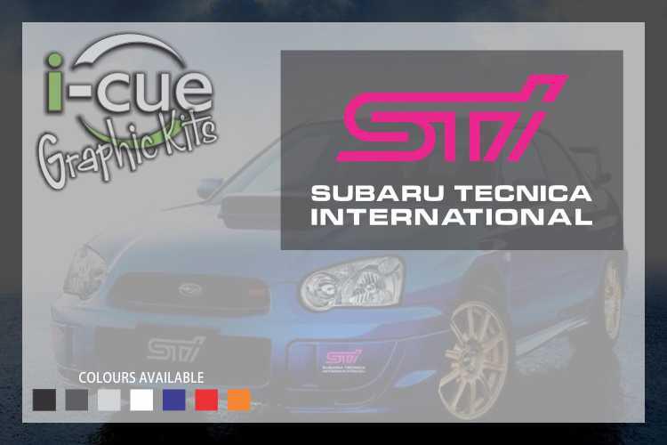 Subaru STI Front Fog Light Cover Decals