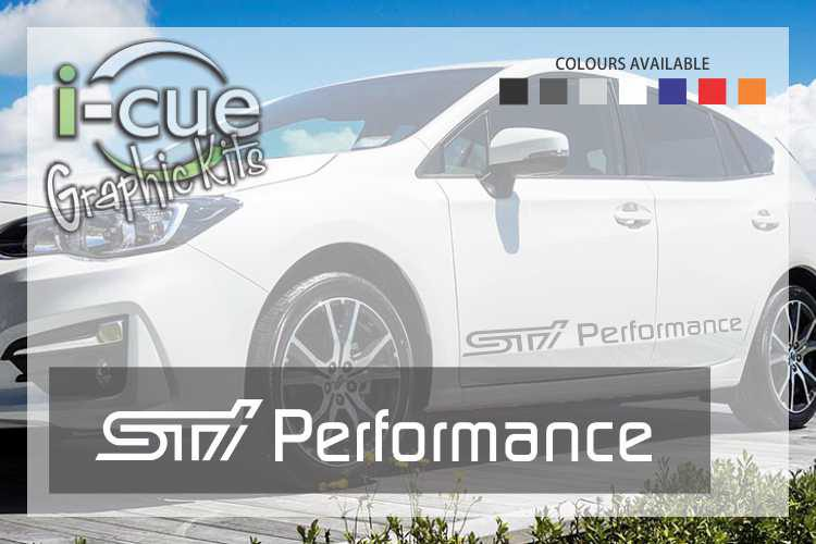 Suabru STI Performance Front Door Decals
