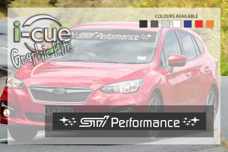 Subaru STI Performance WindShield Decal