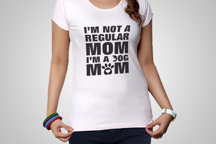 Dog Mom Printed T-Shirt
