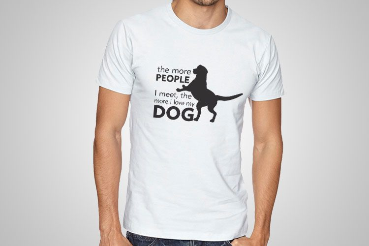 I Love My Dog Printed T-Shirt