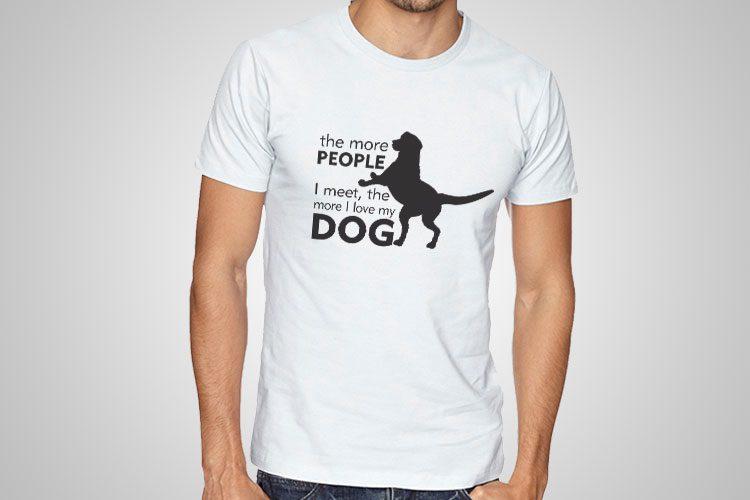 I Love My Dog Printed T-Shirt