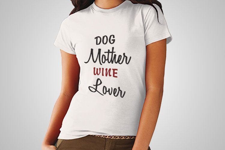 Dog Mother Printed T-Shirt