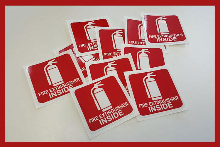 Fire Extinguisher inside Stickers