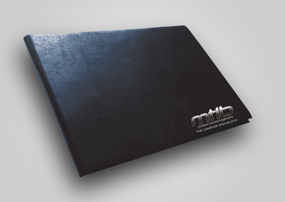 Black Leather-Look Logbook Cover