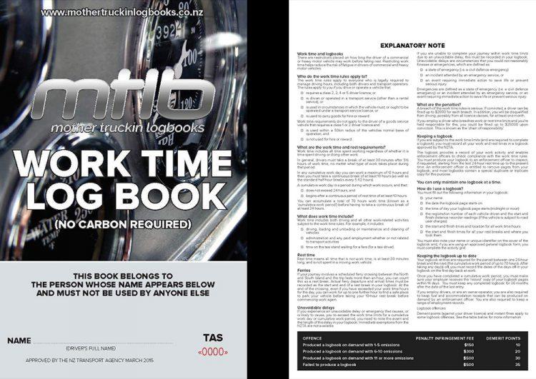 TAS - A5 Worktime Log Books