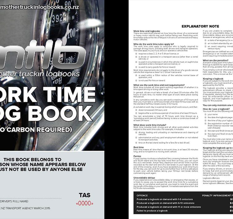 TAS - A5 Worktime Log Books
